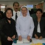 Walai Panich with Noppadon & Principal of St Joseph's