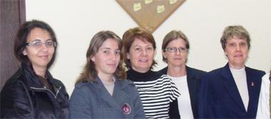 Angela de Jesus, Andressa Felipin, Liane Risso, Irmgat Nielsen, Maria Luiza Luchese