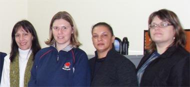 Simone Schmitt, Ana Betine Mueller, Zelir Schneider and Márcia Schmalz